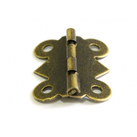 Hinge - 25 mm - bronze-coloured
