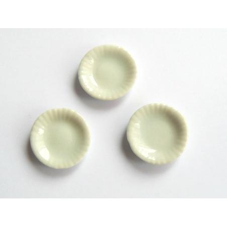 Assiette aux bords ondulés - 2 cm  - 2