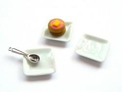 Assiette carrée - 1,5 cm