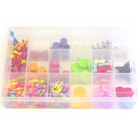 Big storage box with compartments