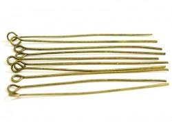 Acheter 10 clous à oeil couleur bronze - 50 mm - 1,09€ en ligne sur La Petite Epicerie - Loisirs créatifs