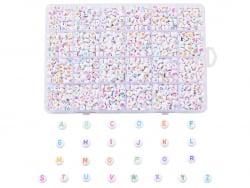 Acheter Boite de 1750 perles lettres alphabet rondes - colorées et blanches - 17,99€ en ligne sur La Petite Epicerie - Loisi...