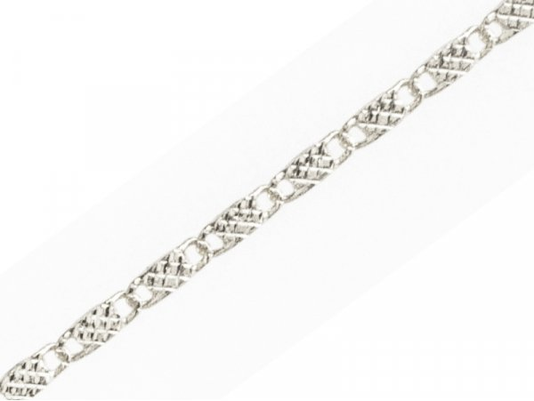 Acheter Chaine lien rectangle martelé - laiton flashé argent 925 - qualité premium - 1,49€ en ligne sur La Petite Epicerie -...