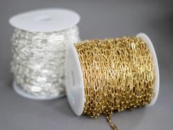 Acheter Chaine trombone 11 x 4 mm - laiton doré à l'or fin 18K - qualité premium - 3,19€ en ligne sur La Petite Epicerie - L...