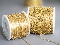 Acheter Chaine trombone 6,3 x 2,5 mm - laiton doré à l'or fin 18K - qualité premium - 2,99€ en ligne sur La Petite Epicerie ...