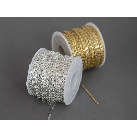 Acheter Chaine lien rectangle - laiton flashé argent 925 - qualité premium - 1,49€ en ligne sur La Petite Epicerie - Loisirs...