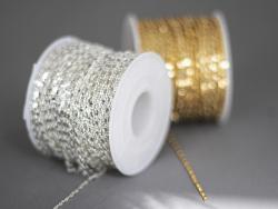 Acheter Chaine lien rectangle martelé - laiton doré à l'or fin 18K - qualité premium - 3,29€ en ligne sur La Petite Epicerie...