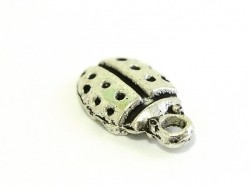 1 silver-coloured ladybird charm