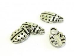 1 silver-coloured ladybird charm