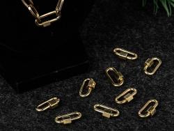 Acheter Fermoir mousqueton à visser - 20 x 11 mm - doré - 4,49€ en ligne sur La Petite Epicerie - Loisirs créatifs