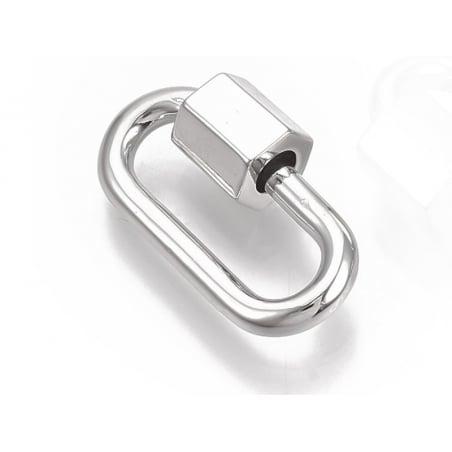 Acheter Fermoir mousqueton à visser - 20 x 11 mm - argenté - 4,49€ en ligne sur La Petite Epicerie - Loisirs créatifs