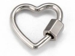 Acheter Fermoir mousqueton à visser - cœur - 18, 5 mm - argenté - 4,49€ en ligne sur La Petite Epicerie - Loisirs créatifs