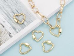 Acheter Fermoir mousqueton à visser - cœur - 18, 5 mm - doré - 4,49€ en ligne sur La Petite Epicerie - Loisirs créatifs