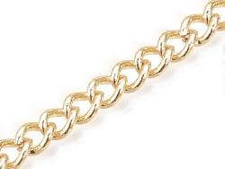 Acheter Chaine gourmette 5 x 4 mm - doré à l'or fin 18 K x 20 cm - 1,29€ en ligne sur La Petite Epicerie - Loisirs créatifs