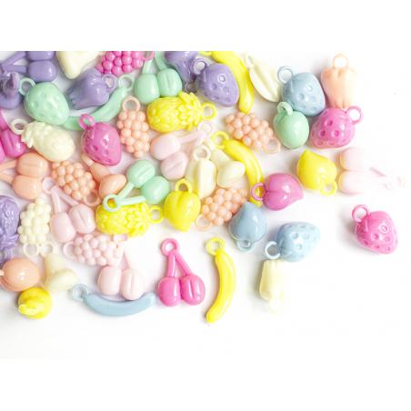 Acheter 50 perles en plastique - fruits variés - pastel - 5,99€ en ligne sur La Petite Epicerie - Loisirs créatifs