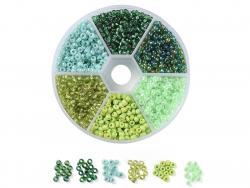 Acheter Boite de 60 grammes de perles de rocailles 3mm - Mix vert - 5,99€ en ligne sur La Petite Epicerie - Loisirs créatifs