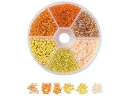 Acheter Boite de 60 grammes de perles de rocailles 3mm - Mix jaune et orange - 5,99€ en ligne sur La Petite Epicerie - Loisi...