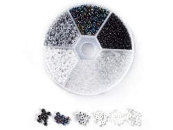 Acheter Boite de 60 grammes de perles de rocailles 3mm - Mix noir et blanc - 5,99€ en ligne sur La Petite Epicerie - Loisirs...