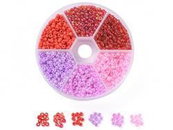 Acheter Boite de 60 grammes de perles de rocailles 3mm - Mix rose et rouge - 5,99€ en ligne sur La Petite Epicerie - Loisirs...