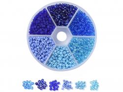 Acheter Boite de 60 grammes de perles de rocailles 3mm - Mix bleu - 5,99€ en ligne sur La Petite Epicerie - Loisirs créatifs