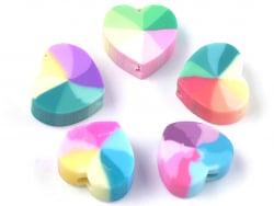 Acheter 20 perles cœur effet rainbow en pâte polymère - multicolore - 9 mm - 1,99€ en ligne sur La Petite Epicerie - Loisirs...