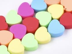 Acheter 20 perles coeurs en pâte polymère - multicolore - 9 mm - 1,99€ en ligne sur La Petite Epicerie - Loisirs créatifs