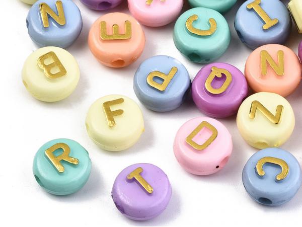 Acheter 200 grosses perles rondes en plastique - lettre alphabet - pastel - 10 mm - 7,99€ en ligne sur La Petite Epicerie - ...