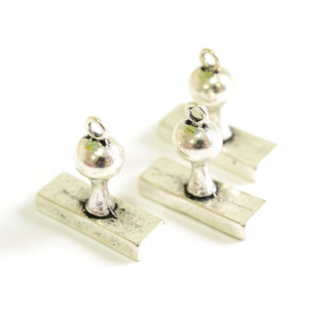 1 ink pad charm - silver-coloured