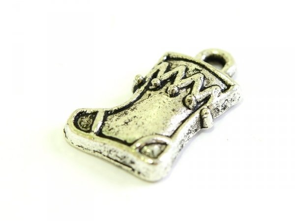 1 Christmas gift stocking charm - silver-coloured