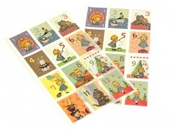 """Alice"" stickers / stamps - numbers"