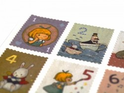 Sticker in Briefmarkenformat - Alice - Zahlen