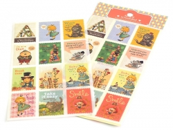 Stickers timbres Alice - message