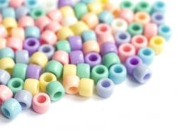 Acheter 50 perles en plastique pony beads - pastel - 8x6 mm - 0,99€ en ligne sur La Petite Epicerie - Loisirs créatifs