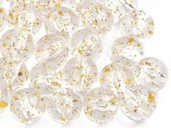 Acheter 50 perles en plastique - ronde à paillettes - doré - 7 mm - 1,99€ en ligne sur La Petite Epicerie - Loisirs créatifs