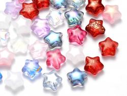 Acheter 20 perles en verre - petite étoile - couleur variée - 6 mm - 3,49€ en ligne sur La Petite Epicerie - Loisirs créatifs