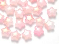 Acheter 20 perles en verre - étoiles roses - 8 mm - 3,49€ en ligne sur La Petite Epicerie - Loisirs créatifs