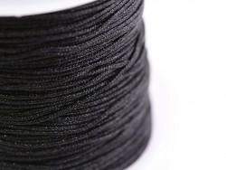 1 m geflochtene Nylonschnur, 1 mm - schwarz