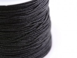 1 m of braided nylon cord, 1 mm - black
