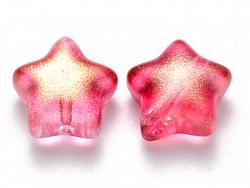 Acheter 20 perles en verre - étoiles rouge pailleté - 8 mm - 3,49€ en ligne sur La Petite Epicerie - Loisirs créatifs