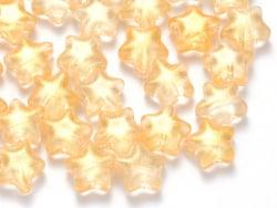 Acheter 20 perles en verre - étoiles jaunde d'or pailleté - 8 mm - 3,49€ en ligne sur La Petite Epicerie - Loisirs créatifs