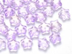 Acheter 20 perles en verre - étoiles mauve transparent pailleté - 8 mm - 3,49€ en ligne sur La Petite Epicerie - Loisirs cré...