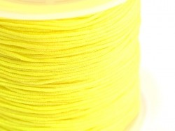 1 m of braided nylon cord, 1 mm - yellow