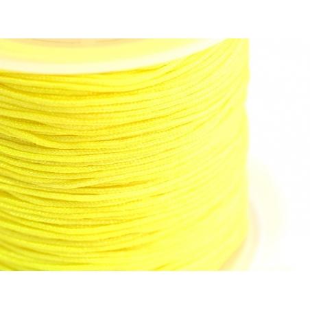 1 m de fil de jade / fil nylon tressé 1 mm - jaune  - 1