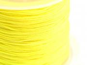 1 m de fil de jade / fil nylon tressé 1 mm - jaune