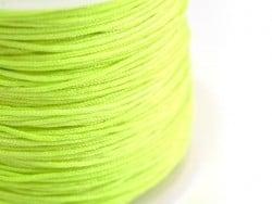 1 m de fil de jade / fil nylon tressé 1 mm - vert fluo