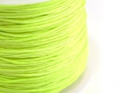 1 m of braided nylon cord, 1 mm - neon green