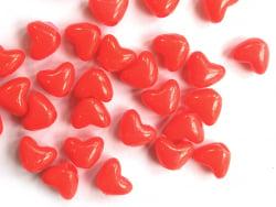Acheter 50 perles en plastique - cœur rouge - 9x11 mm - 0,99€ en ligne sur La Petite Epicerie - Loisirs créatifs