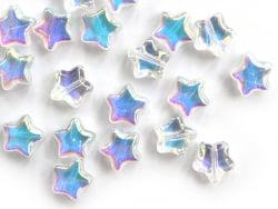 Acheter 20 perles en verre - étoile effet holographique - 8 mm - 3,49€ en ligne sur La Petite Epicerie - Loisirs créatifs