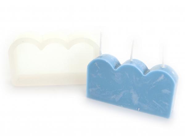 Acheter Moule en silicone - Bougie 3 vagues - 10,19€ en ligne sur La Petite Epicerie - Loisirs créatifs