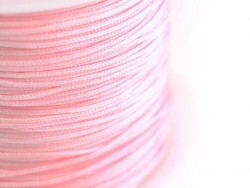 1 m of braided nylon cord, 1 mm - light pink